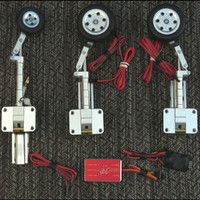 JP Hobby metal landing gear set traction wheel brake indented landing gear set for 3 5KG fixed wing aircraft