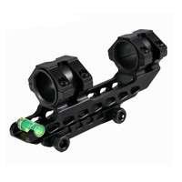 TENSDARCAM Tactical AR15 Scope Mount Gun Rifle Optic Mount 25 4mm 30mm Rings Mount With Bubble