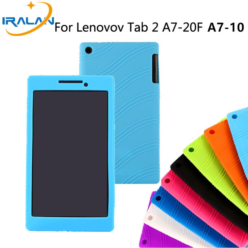 New hot Fashion Ultra Slim Soft Cover for Lenovo Tab2 A7-10 A7-20F  Tab 2 A7 10 20F Case Silicon Case shell free shipping+stylus new slim folio bracket for lenovo a7 20f standing tablet cover for lenovo tab 2 a7 20 flip protective tablet case