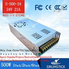 Constante 220 v dc 500 w fonte de alimentação 24 v 20a comutação transformador de potência S-500-24 dc display led luz faixa monitor