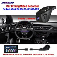 Liandlee Car DVR Front Camera Driving Video Recorder USB Plug For Audi A6 A6L S6 RS6 C7 4G Android Screen AUTO Dashcam Antiradar