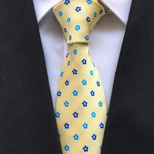 Stylish Design Necktie 8cm Formal Classic Casual Floral Ties High Quality Fashion Gentlemen Woven Gravata with for Men