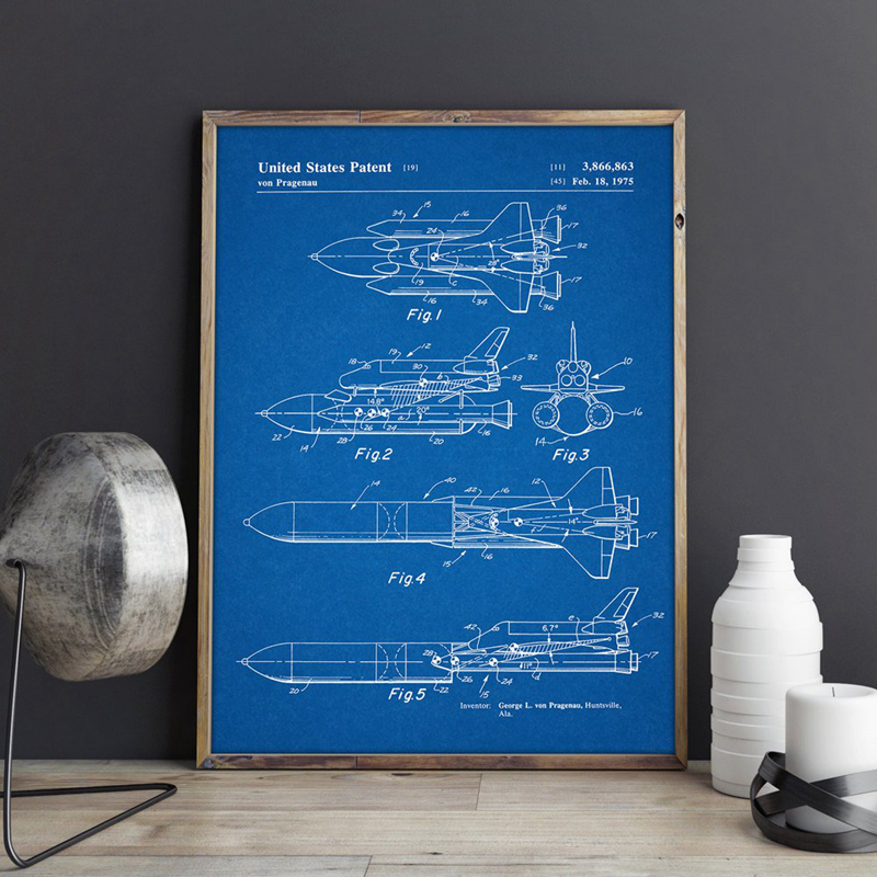 Space Shuttle Wall Art Print