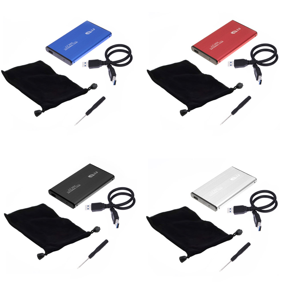"NEW Arrival 2.5"" USB 3.0 SATA HDD Box HDD Hard Disk Drive External HDD Enclosure Black/White/Red/Blue Case"
