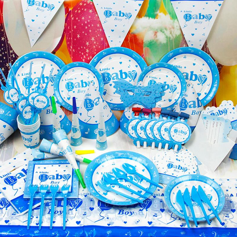 Online get cheap birthday decoration items for Baby boy birthday party decoration