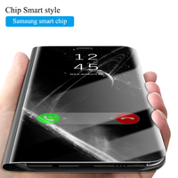 For Samsung Galaxy S8 Plus Case Smart Chip Mirror Clear View Plating For Samsung Galaxy Note