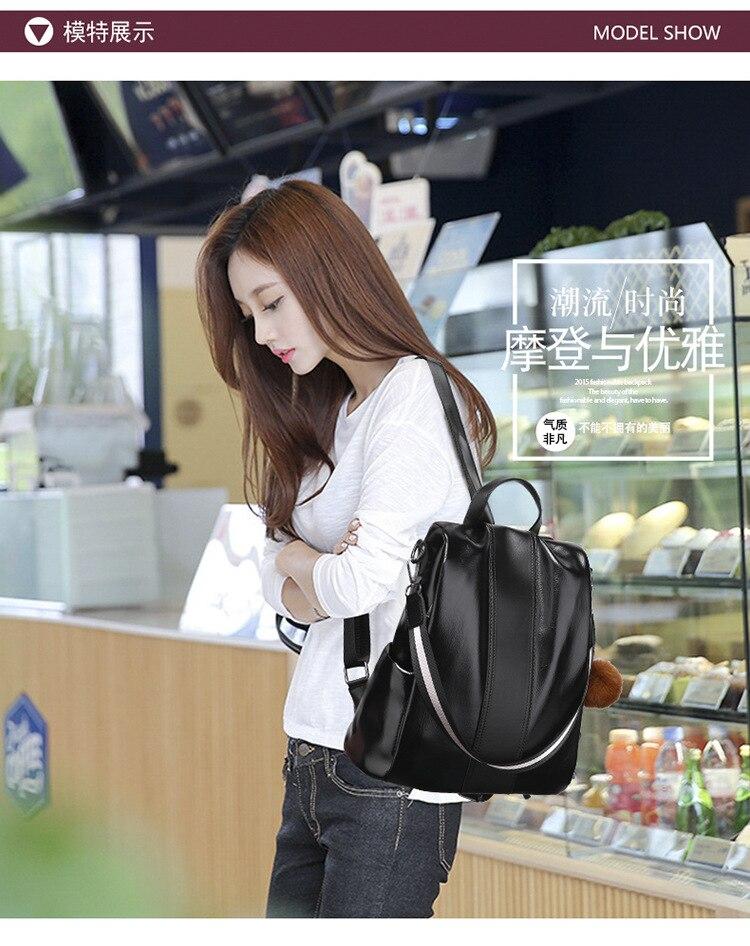 Clássico feminino mochila moda coréia casual feminino