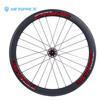 Winspace 700C Carbon Racing Road Bike Wheelset 50mm Clincher Disc Brake Spoke Holes Used for Quick Release or Alex through UD