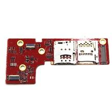 원래 새로운 sim 카드 홀더 슬롯 리더 플렉스 케이블 레노버 패드 b6000 b8000 sim 카드 리더 홀더 커넥터 슬롯 플렉스 케이블