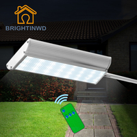 LED Solar Light Aluminum Ip65 Remote Control Emergency Outdoor Lighting Powerful Garden Street Lights