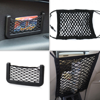DWCX Car Auto Elastic Nylon String Storage Bag Seat Hanging Net Bag Pouch Organizer Holder For
