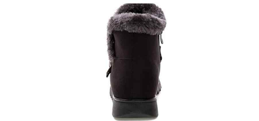 Kadın Kar Botları Sıcak Kısa kürk peluş Kış yarım çizmeler XL Platformu Bayanlar Süet pamuklu ayakkabılar Kadınlar Rahat Drop shipping