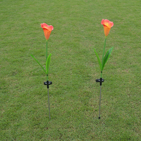 Comercio al por mayor 78 CM de herradura solar simulación de loto luces decorativas al aire libre linterna solar del jardín lámpara de césped luz del césped