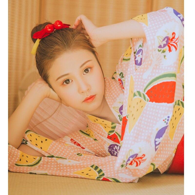 Kimono japonais Vintage pour femme avec Robe de bain à fleurs imprimé Obi Robe de soirée Sexy Geisha Cosplay Costume de fête d'halloween