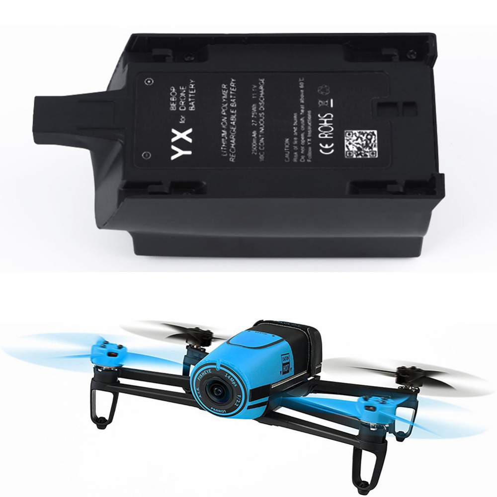 Hight Quality 2500mAh 11.1V High Capacity Battery for Parrot Bebop Drone 3.0 Quadcopter parrot bebop drone3 0 quadcopter helicopter 2500mah li po battery and 3 in 1 charger bebop drone 3 0 part free shiping