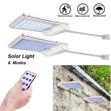 56 LED Solar Light Lamp Outdoor Garden 1000 Lumens Radar Sensor Alumin