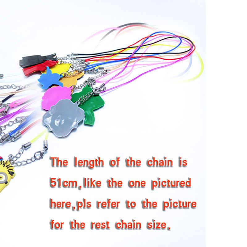 1 個 pvc ネックレス漫画図リトル馬チェーンペンダントかわいいミニーの魅力チョーカーファッションジュエリー