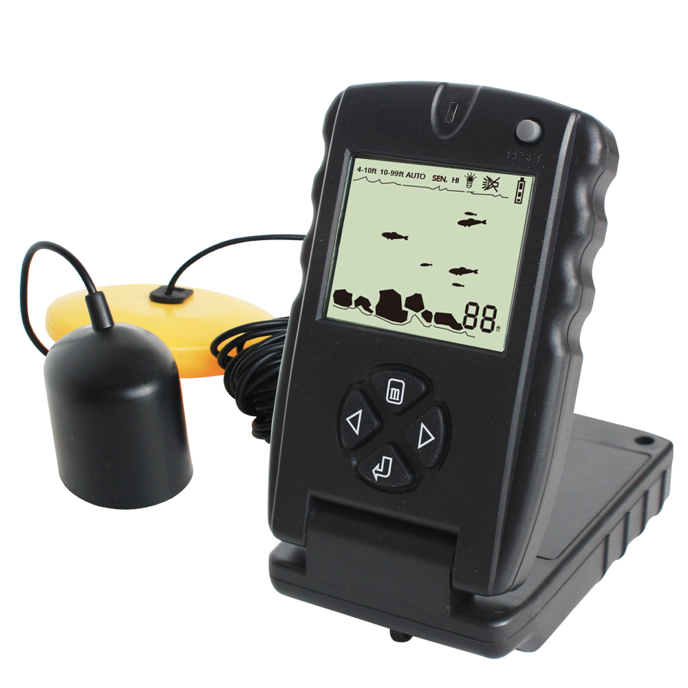 LUCKY 100FT Wired Fish Finder Monitor Detector Portable Sonar Fish Finders Depth Echo Sounder Pesca Tackle