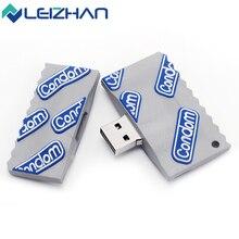 LEIZHAN Condom USB Flash Drives External Storage 4GB 8GB 16GB 32GB Flash Disk USB 2.0 Fast Speed Reading / Writing Memory Card