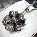 2016 New Arrival None Women Flower All-match Decorative Necklace Female Long Paragraph Sweater Chain Jewelry Accessories
