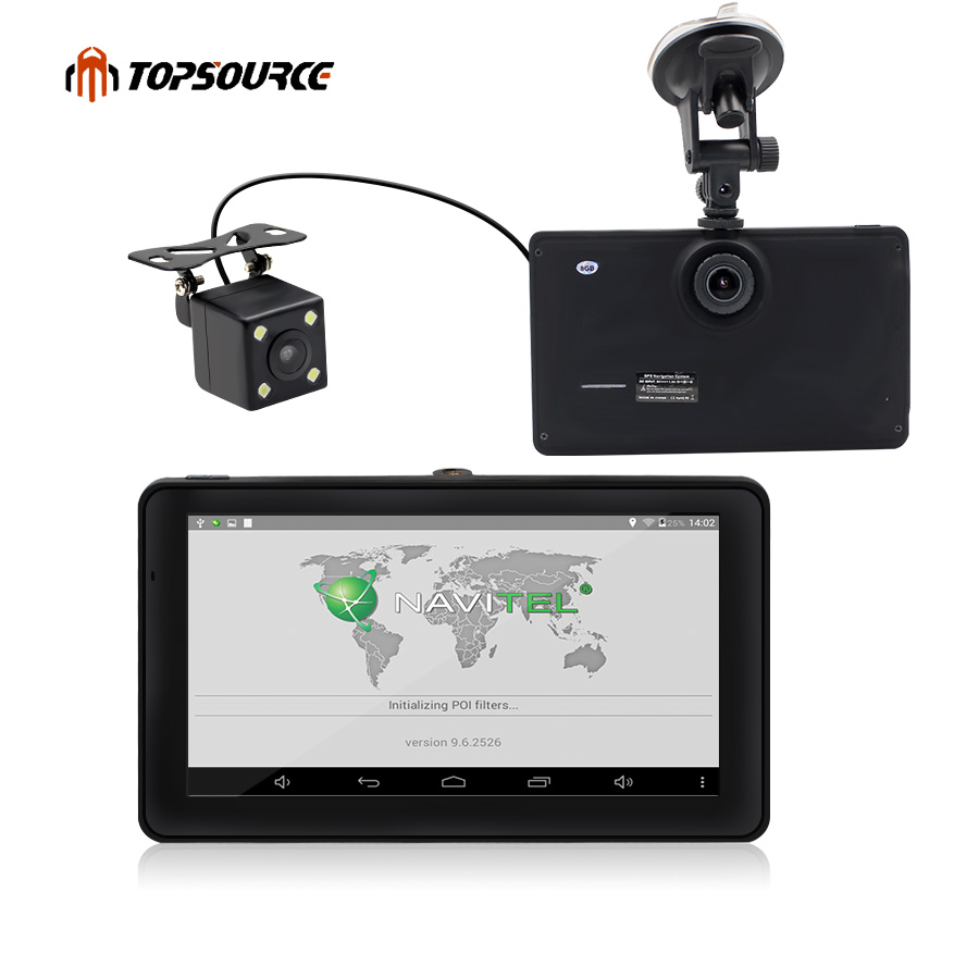 7 Android Car GPS Navigation 8GB With Rear View Camera Car Dvrs Vehicle Gps Navigator Quad