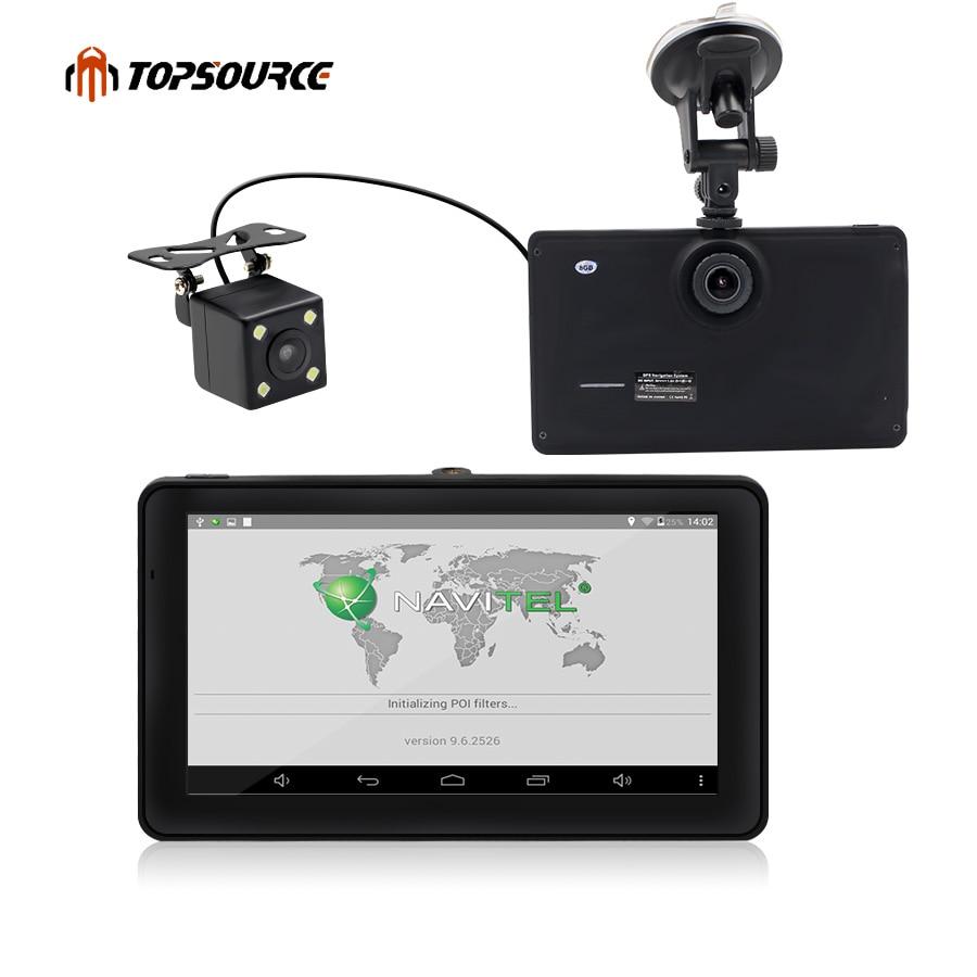 """7 """"Android GPS навигация Встроенный 8 ГБ с камеры заднего вида CAR видеорегистраторы автомобиля GPS навигатор Quad- core Bluetooth AVIN навигатор"""