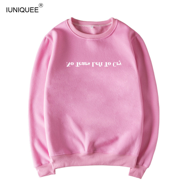 """Letter Print """"No Tears Left To Cry"""" Ariana Grande Sweatshirt Wonen Print Hoodie Brand Clothing Popular Cotton Gothic Shirts Tops 3"""