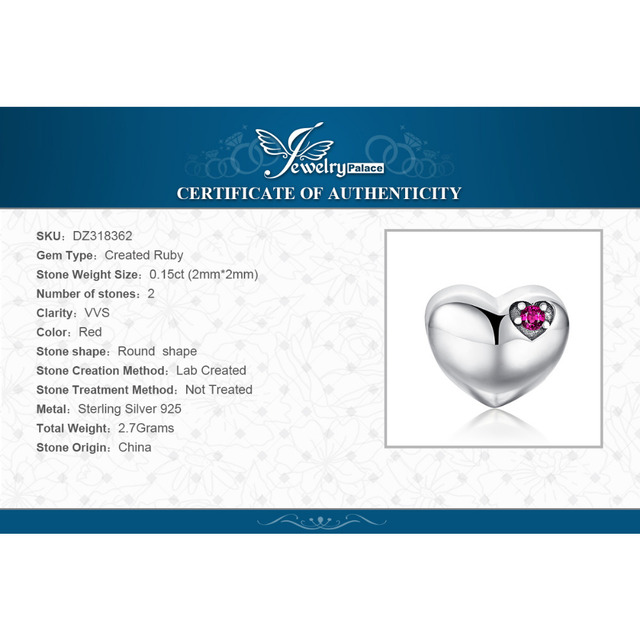 Forever Us Ruby Heart Charm