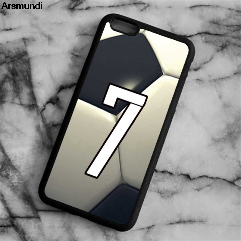 Arsmundi Personalized Number Soccer Football Phone Cases for iPhone 4 5C 5S 6 6S 7 8 X for Samsung Case Soft TPU Rubber Silicone