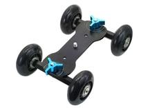 Pro Table Top Dolly Mini Car Skater Track Slider For DSLR Video Film 700D 7D 70D Black