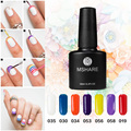 MSHARE Red yellow blue 10 ml of uv gel nail polish art with flash powder lasting German nail material  free shipping