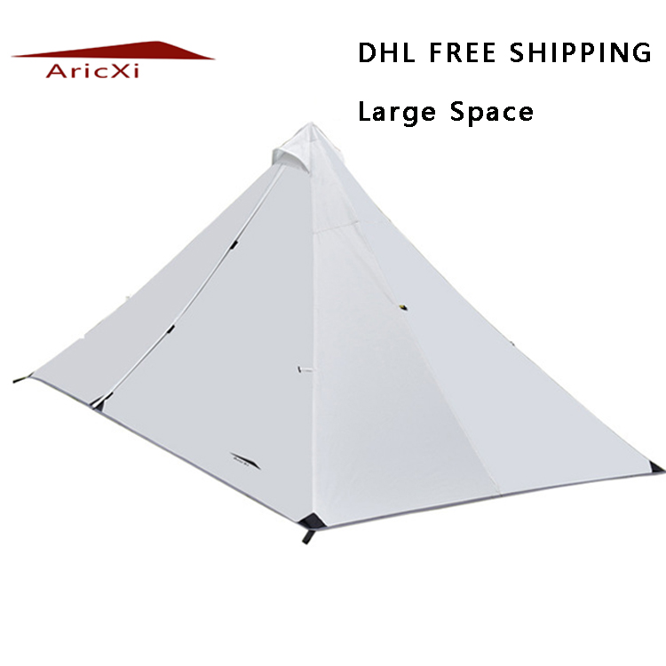 DHL free shipping large space single person Ultralight Outdoor Camping Tent Professional Rodless Tent high quality outdoor 2 person camping tent double layer aluminum rod ultralight tent with snow skirt oneroad windsnow 2 plus