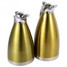 Stainless Steel Coffee Pot Double Wall Vacuum Insulated Thermo Jug Hot Water Bottle 2L Red
