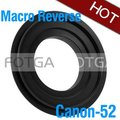 wholesale Fotga 52mm 52 mm Macro Reverse Adapter Ring For Rebel XT XTi XS 1000D 1100d 450D 550D 600D Camera Body