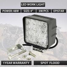 4inch 48W Flood Led Work Light 4X4WD Off Road Driving Boat Truck Suv ATV car led headlights