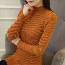 The new winter sweater in a long sleeved Korean short half slim shirt autumn