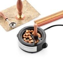 США Plug Электрический 50 мл огонь воск теплее плавления нагреватель 60 Вт восковые палочки бусины плавления печать воск плавильная Плита горшок