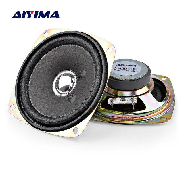 AIYIMA 2 adet 3.5 inç taşınabilir hoparlörler 4Ohm 8W tam aralık müzik ses hoparlörü sütun hoparlör DIY ev sineması için
