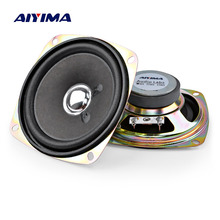 AIYIMA 2Pcs 3.5 אינץ נייד אודיו רמקולים 4Ohm 8W מלא טווח מוסיקה צליל רמקול עמודת רמקול DIY עבור קולנוע ביתי