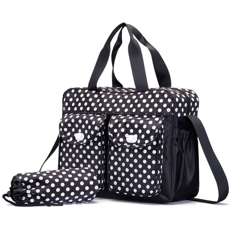 40299cm Dot Baby Changing Diaper Bag For Mom Messenger Multifunctional Maternity Nappy Bags Mother Milk Insulation Bags (3)