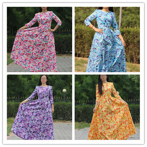 Cotton Floor Length Dresses