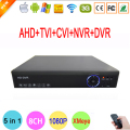 Blue-ray Hi3520D 1080P Surveillance Camera 1080N 8 Channel 8CH 5 in 1 Hybrid Coaxial TVI CVI NVR AHD DVR FreeShipping To Russia