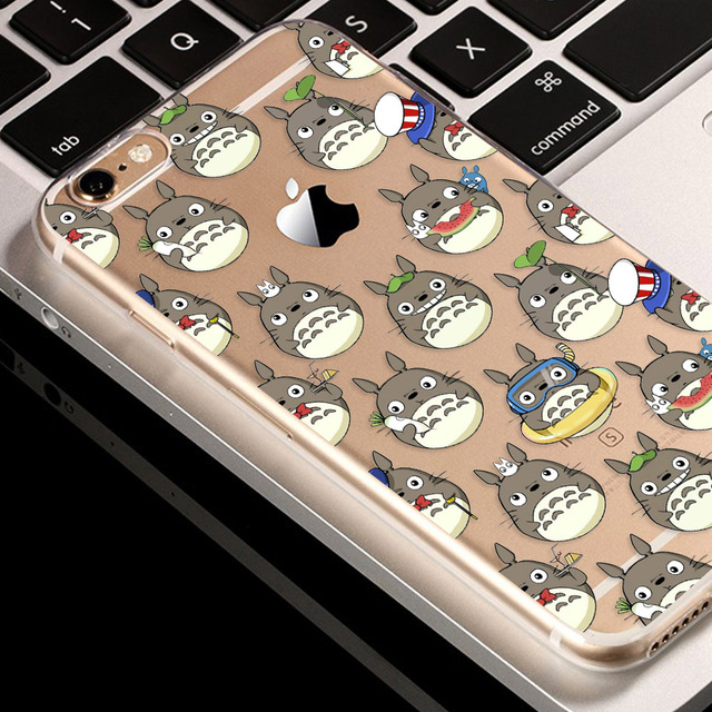 Totoro soft silicone TPU cover 2017 For iPhone -Style 2