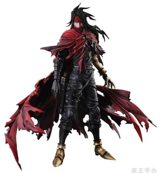 "New Statue PLAY ARTS Kai Vincent Valentine Game Anime Film Final Fantasy 7 Dirge of Kerberos 11"" Action Figure Toys"