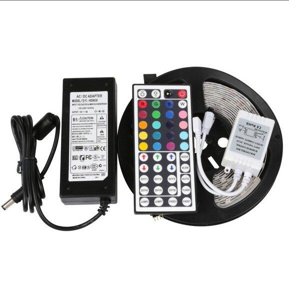 Не водонепроницаемый RGB светодио дный полоски SMD5050 44key ИК пульт дистанционного праздник освещения 60 светодио дный полосы для украшения весь комплект с источника питания - 6