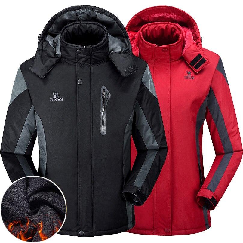 Men Women Hiking Jacket Coat Thermal Outdoor Autumn Winter Riding Skiing Fishing Camping Sport Parka Jacket Waterproof Windproof