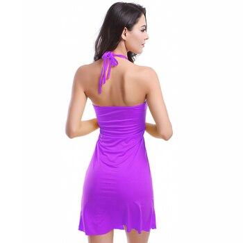 2019 Popular Victoria Design Hot Wholesale Double Spaghetti Straps O Neck Matches Bikini Cover Up Dress Beach S.M.L.XL 4