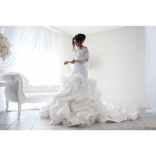 Wedding-Dresses Dubai Mermaid Bridal-Gowns Robe-De-Mariee Lace Arabic Ruffles Full-Sleeves