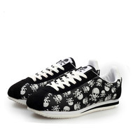 2017 Spring Summer Luxury Brand Casual Shoes Light Originality Skull Heads Print Cortez Hip Hop Flat