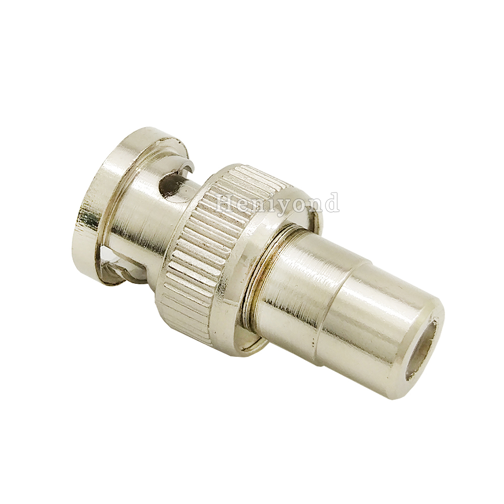 10PCS BNC Male To RCA Male CCTV Security Coax Coupler Video Connector Adapter RF Convertor High Quality Brand New